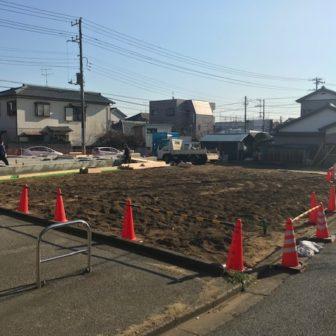 千葉県習志野市鷺沼のK様邸、建築現場、建築の模様