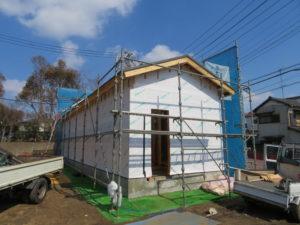 安い建築、丁寧な建築、柔軟にご要望にお応えいたします。千葉県習志野市鷺沼のK様邸、建築現場、建築現場写真|千葉県、習志野市での新築工事、注文建築は地域密着の大栄工務店にお任せください。