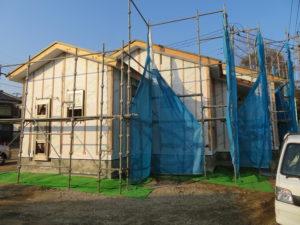 まじめな建築会社|千葉県習志野市鷺沼のK様邸、建築現場、建築現場写真|千葉県、習志野市での新築工事、注文建築は地域密着の大栄工務店にお任せください。