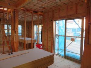 習志野市の住宅建築はお任せください。千葉県習志野市鷺沼のK様邸、建築現場、建築現場写真|千葉県、習志野市での新築工事、注文建築は地域密着の大栄工務店にお任せください。